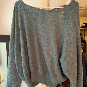 Vici green open back sweater